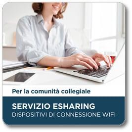 ESharing – Dispositivi di connessione wifi per la comunità universitaria
